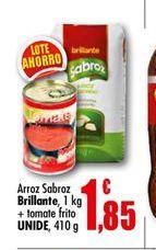 Oferta de Arroz sabroz Brillante + tomate frito UNIDE por 1.85€