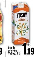 Oferta de Bebida de avena YoSoy por 1.19€