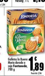 Oferta de Galletas la buena maria dorado o soja Fontaneda por 1.89€
