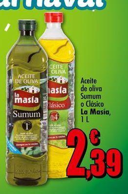 Oferta de Aceite de oliva Sumum o Clásico La Masía1L por 2.39€