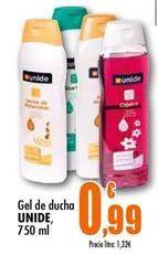 Oferta de Gel de ducha Unide por 0.99€