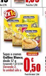 Oferta de Sopas o cremas Gallina Blanca por 0.5€