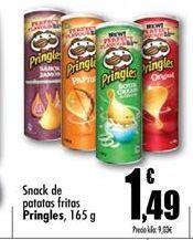 Oferta de Snacks patatas fritas Pringles por 1.49€