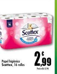 Oferta de Papel higiénico Scottex por 2.99€