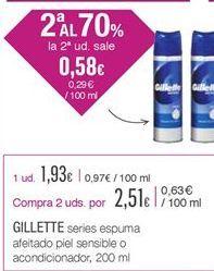 Oferta de Espuma de afeitar Gillette por 1.93€