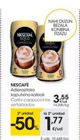 Oferta de Cafés cappuccinos Nescafé señalizados por 3.55€