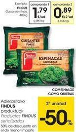 Oferta de Productos FINDUS SEÑALIZADOS  por 1.79€