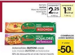 Oferta de Las masas BUITONI señalizadas por 2.25€