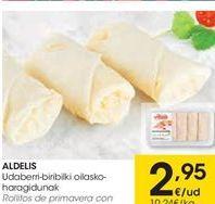 Oferta de ALDELIS Rollitos de primavera con xarne pollo por 2.95€