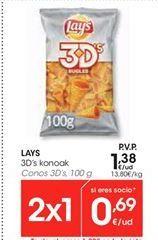 Oferta de LAYS Conos 3D´s por 1.38€