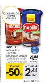 Oferta de NOCILLA Cremas de untar señalizadas por 4388€