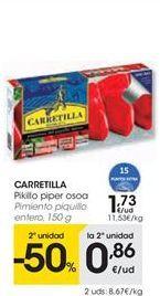 Oferta de Pimientos del piquillo entero Carretilla por 1.73€