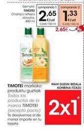 Oferta de TIMOTEI Champú reflejos dorados por 2.65€
