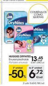 Oferta de HUGGIES DRYNITES pañales enuresis por 13.45€