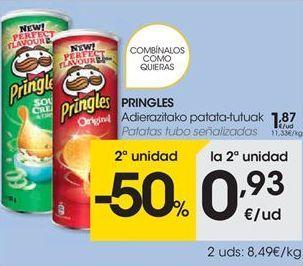 Oferta de PRINGLES Patatas tubo señalizadas por 1.87€