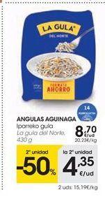 Oferta de ANGULAS AGUINAGA  La Gula del Norte por 8.7€