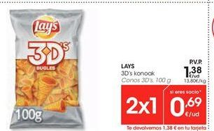 Oferta de Snacks Lay's por 1.38€