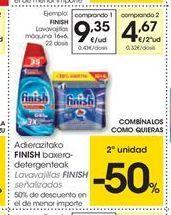 Oferta de Detergente lavavajillas Finish por 9.35€