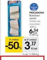 Oferta de Filetes de bacalao Pescanova por 6.34€