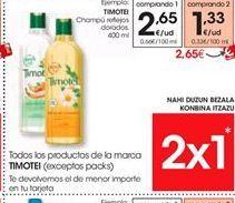 Oferta de Champú Timotei por 2.65€
