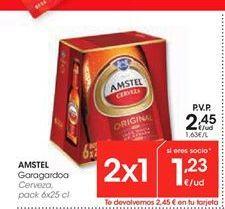 Oferta de Cerveza Amstel por 2.45€