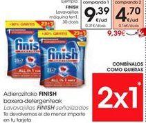 Oferta de Detergente lavavajillas Finish por 9.39€