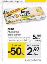 Oferta de Atún claro Albo por 5.95€