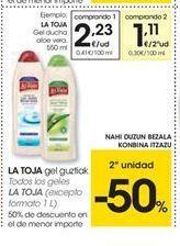 Oferta de Gel de baño La Toja por 2.23€
