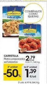 Oferta de CARRETILLA platos preparados señalizados por 2.79€