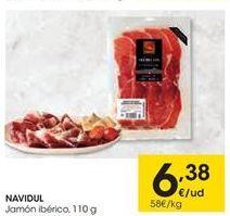 Oferta de NAVIDUL Jamón ibérico por 6.38€