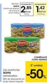 Oferta de Las aceitunas Serpis señalizadas por 2.85€
