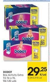 Oferta de Dodot Box activity extra por 29.25€