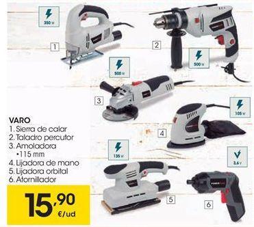 Oferta de VARO sierra de calor, taladro percutor, amoladora, lijadora de mano, lijadora orbital o atornillador por 15.9€