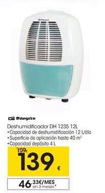 Oferta de Deshumidificador DH1235 12L por 139€