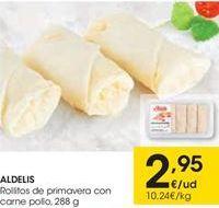 Oferta de Aldelis Rollitos de primavera con carne de pollo por 2.95€