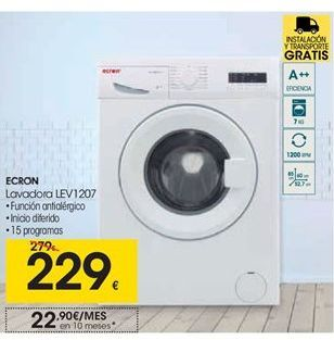 Oferta de  Ecron lavadoras LEV1207 por 229€
