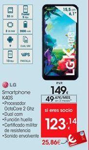 Oferta de LG smartphones K40S por 149€