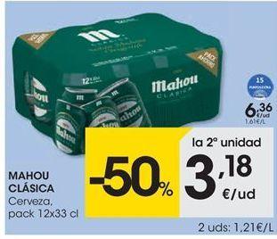 Oferta de MAHOU CLÁSICA cerveza por 6.36€