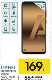 Oferta de Smartphones Samsung galaxy A20e negro por 169€