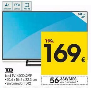 Oferta de Td systems Led TV K40DLX9F por 169€