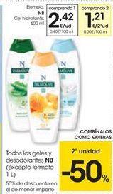 Oferta de Todos los geles y desodorantes  NB por 2.42€
