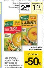 Oferta de Las cremas y sopas Knorr señalizadas por 2.99€