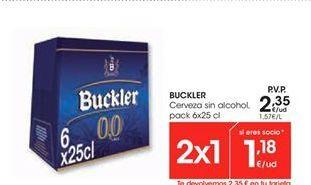 Oferta de Buckler Cerveza sin alcohol por 2.35€