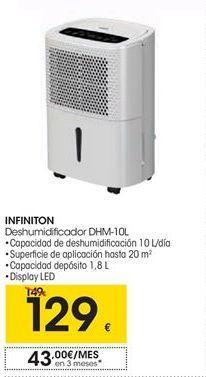 Oferta de  infinition deshumidificador DHM-10L por 129€