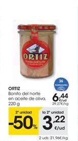 Oferta de ORTIZ bonito del norte en aceite de oliva  por 6.44€