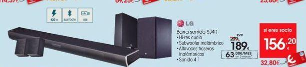 Oferta de  LG barra de sonidoSJ4R por 189€