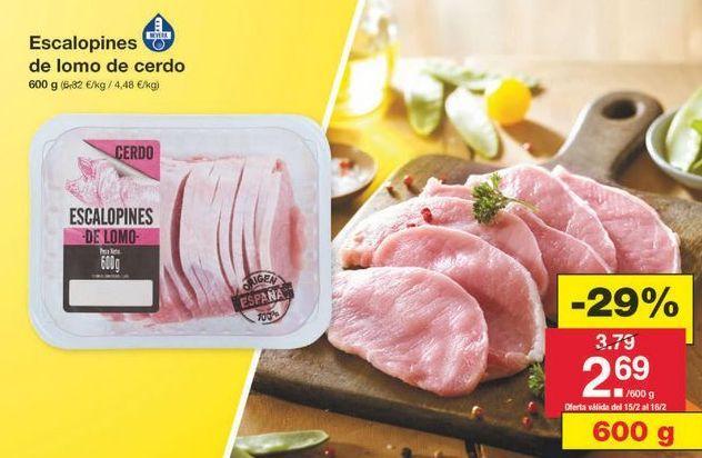 Oferta de Lomo de cerdo por 2.69€