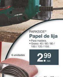Oferta de Lija Parkside por 2.99€