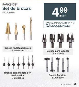 Oferta de Brocas para madera Parkside por 4.99€