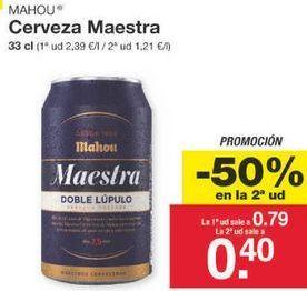 Oferta de Cerveza Mahou por 0.59€